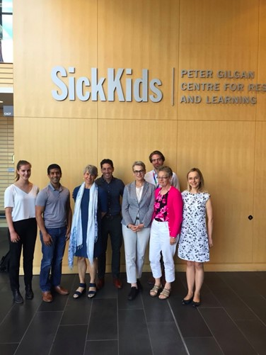 Alessandra Ferrario and Anita Wagner at SickKids Hospital in Toronto